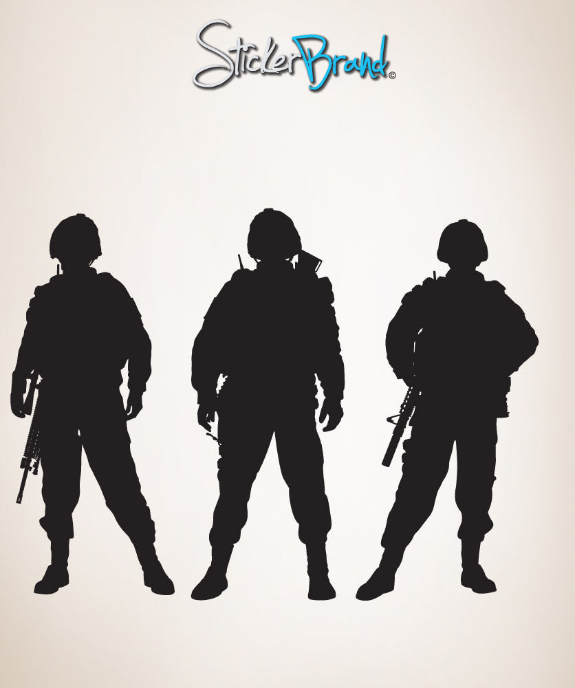 Vinyl wall decal sticker army soldiers 852