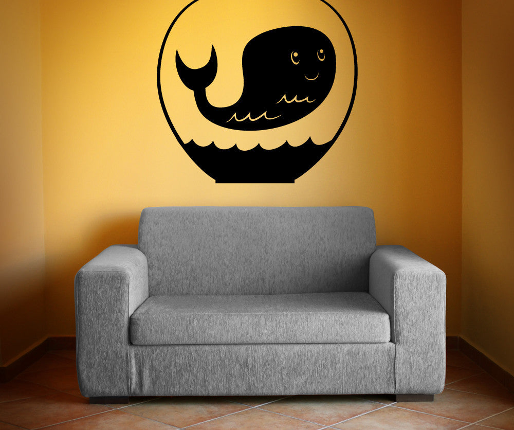 Vinyl Wall Decal Sticker Whale In Bowl Os Mb411