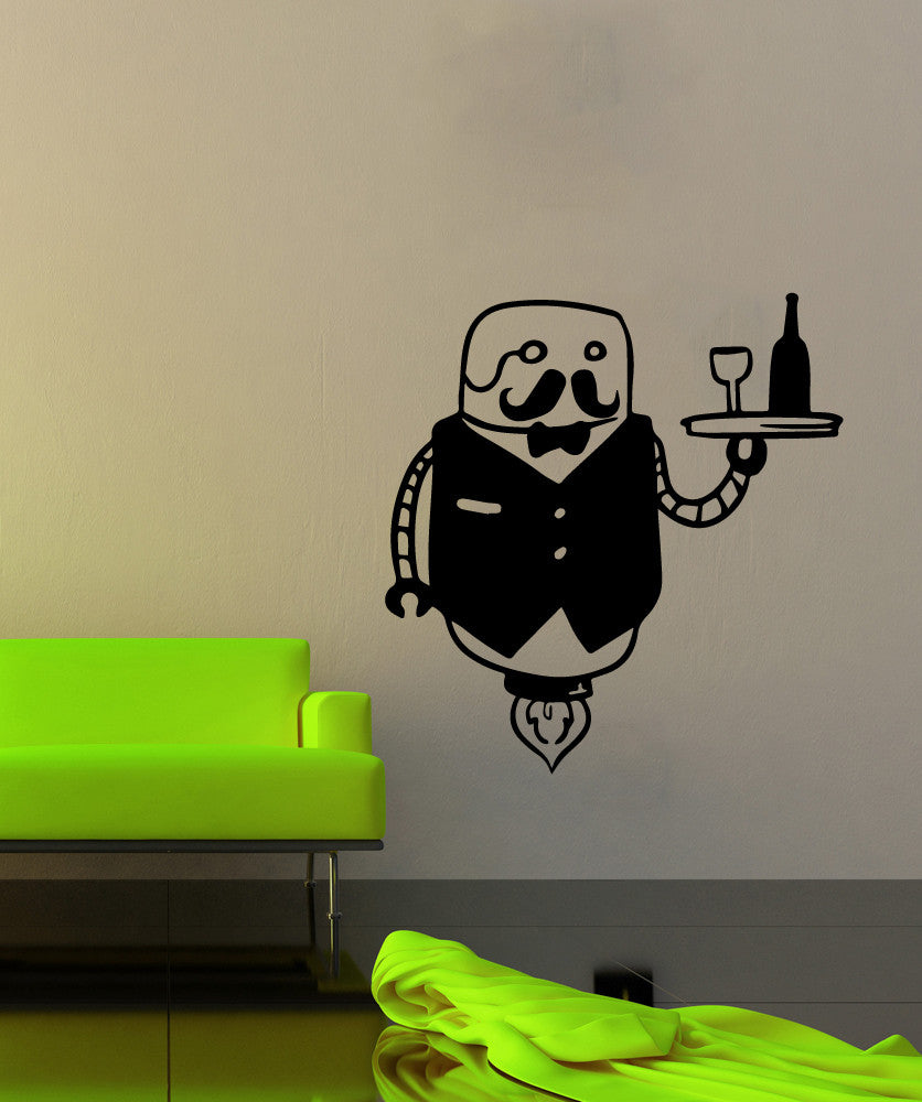 Vinyl Wall Decal Sticker Robot Butler #OS_MB511