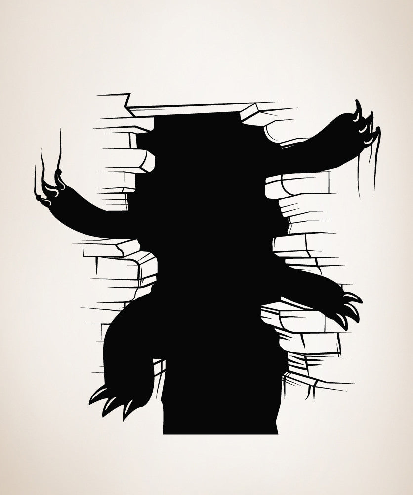 Vinyl Wall Decal Sticker Monster Beneath the Cracks #OS_MB277