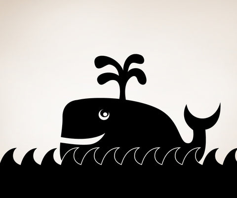 Vinyl Wall Decal Sticker Happy Whale #OS_MB292