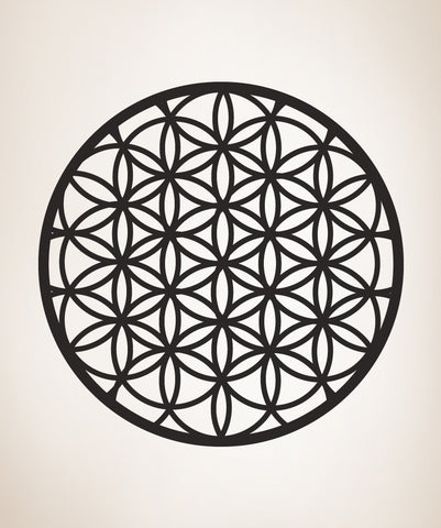 Circle Symmetry Geometric Mandala Pattern, Flower of Life Wall Decal. #OS_MB372