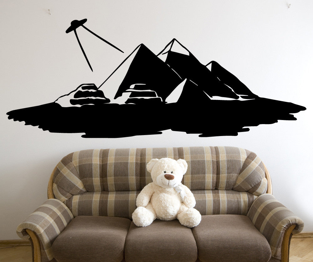 Vinyl Wall Decal Sticker Pyramids Invasion #OS_MB452