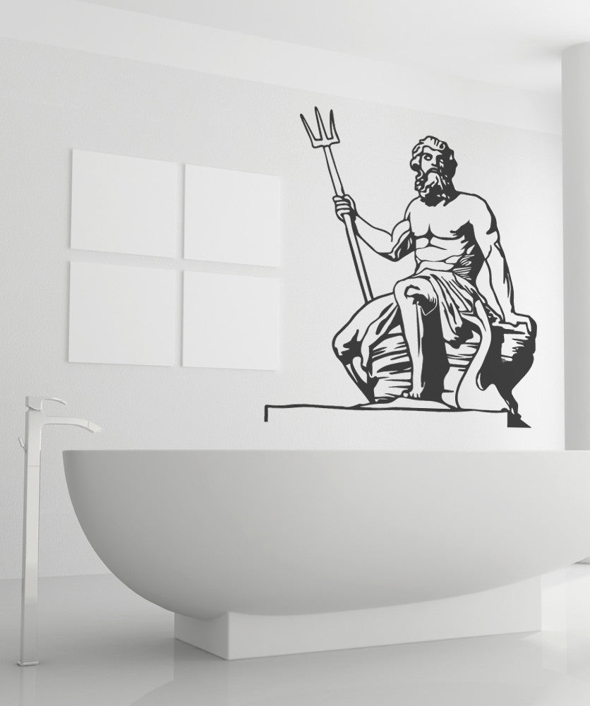 Vinyl Wall Decal Sticker Poseidon Greek Statue #OS_MB512