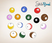 Billiard Pool Balls Graphic Wall Decal Sticker #OS_MB130