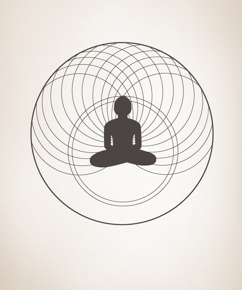 Vinyl Wall Decal Sticker Meditation #OS_MB373