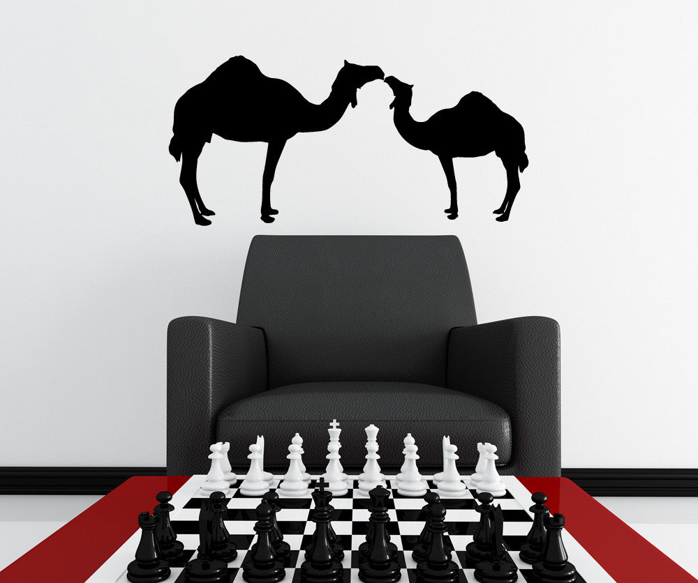 Vinyl Wall Decal Sticker Two Camels #OS_MG454