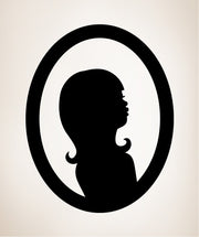Vinyl Wall Decal Sticker Lady Mirror Reflection #OS_MB296
