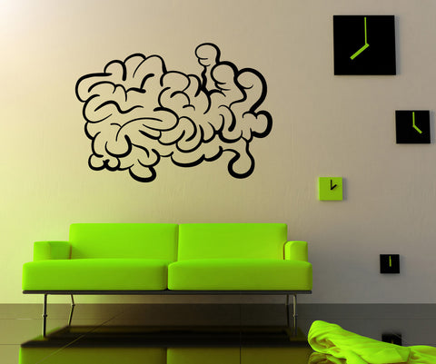 Vinyl Wall Decal Sticker Abstract Brain #OS_MB458