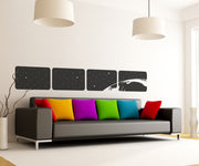 Vinyl Wall Decal Sticker Space from shuttle window # OS_MB104