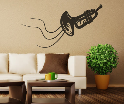 Vinyl Wall Decal Sticker Trumpet #OS_MB338