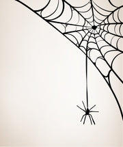 Spider Hanging From Web Vinyl Wall Decal Sticker. #OS_MB302