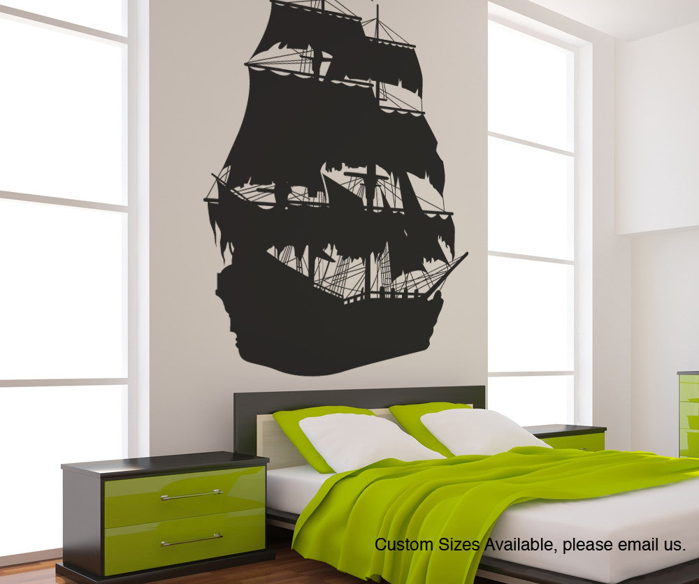 pirate ship wall decal pirate ship wall sticker. Black Bedroom Furniture Sets. Home Design Ideas