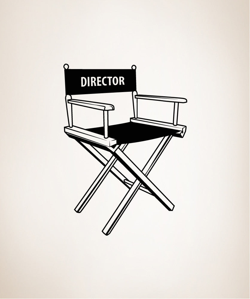 Vinyl Wall Decal Sticker Director's Chair #OS_MB423