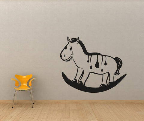 Vinyl Wall Decal Sticker Rocking Horse #OS_MB342