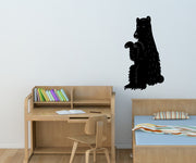 Vinyl Wall Decal Sticker Sitting Bear #OS_MB304