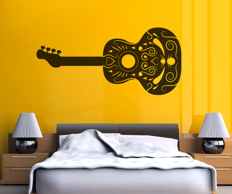 Vinyl Wall Decal Sticker Intricate Guitar #OS_MB343