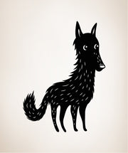 Vinyl Wall Decal Sticker Wolf #OS_MB305