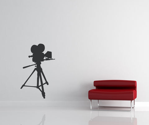 Vinyl Wall Decal Sticker Hollywood Camera #OS_MB425
