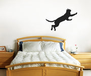 Vinyl Wall Decal Sticker Jumping Cat #OS_MB386