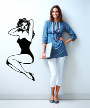 Vinyl Wall Decal Sticker Pin Up Lady #OS_MB526