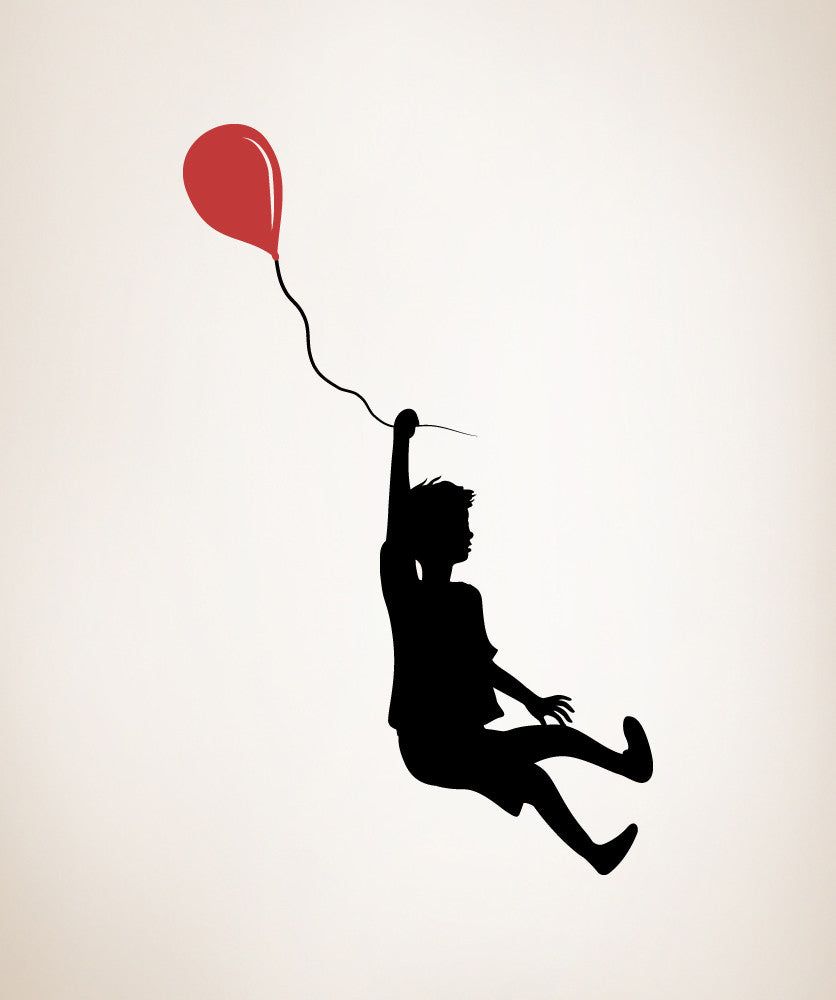 Vinyl Wall Decal Sticker Boy with Balloon #OS_MB347