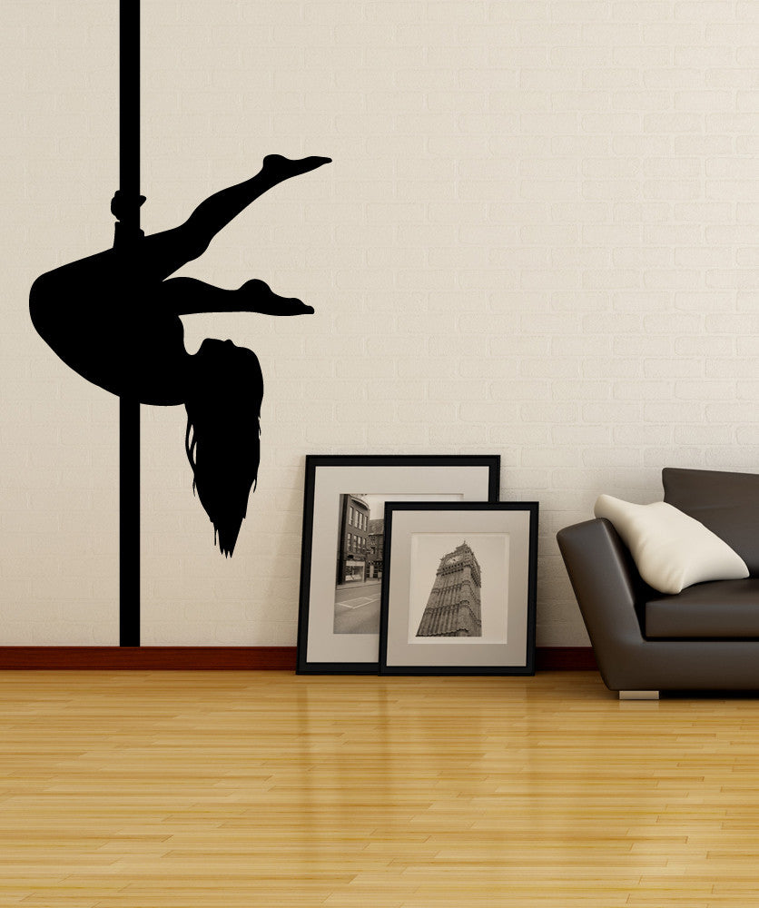 Vinyl Wall Decal Sticker Pole Dancer Silhouette #OS_MB528