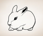 Vinyl Wall Decal Sticker Bunny #OS_MB310