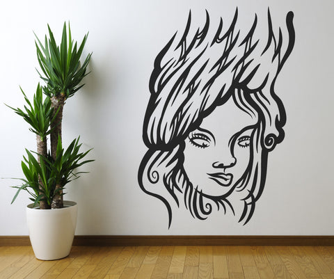 Vinyl Wall Decal Sticker Face in a Tree #OS_MB390