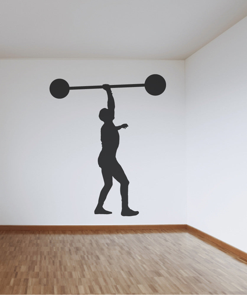 Vinyl Wall Decal Sticker Weight Lifter #OS_MB530