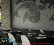 Vinyl Wall Decal Sticker Koi Fish Wave item #OS_MB118