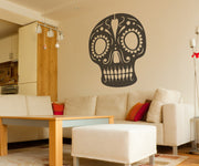 Vinyl Wall Decal Sticker Jazz Skull #OS_MB351