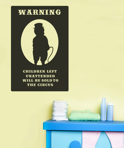 Vinyl Wall Decal Sticker Circus Children Sign #OS_MB262