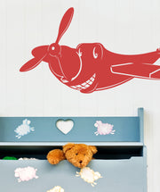 Vinyl Wall Decal Sticker Happy Plane #OS_MB313