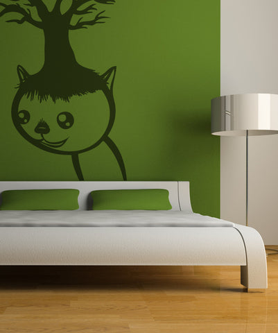 Vinyl Wall Decal Sticker Cat and Tree #OS_MB393