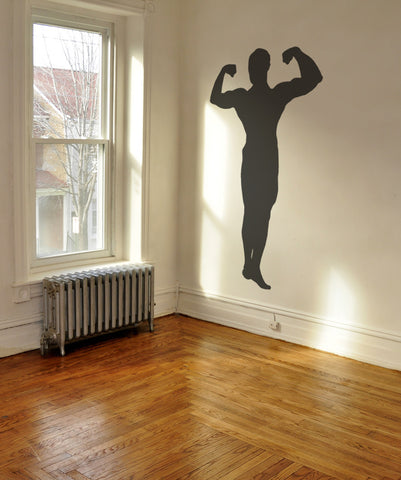 Vinyl Wall Decal Sticker Strong Man Pose #OS_MB533