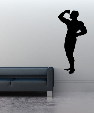 Vinyl Wall Decal Sticker Flexing #OS_MB534