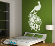 Vinyl Wall Decal Sticker Oriental style Peacock item OS_MB124
