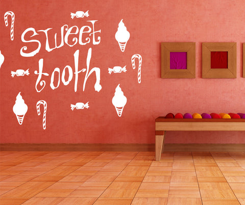 Vinyl Wall Decal Sticker Sweet Tooth #OS_MB476