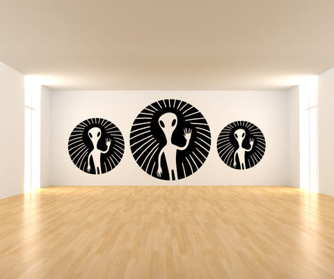 Vinyl Wall Decal Sticker Three Aliens #OS_MB477