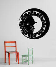 Vinyl Wall Decal Sticker Sun and Moon #OS_MB254