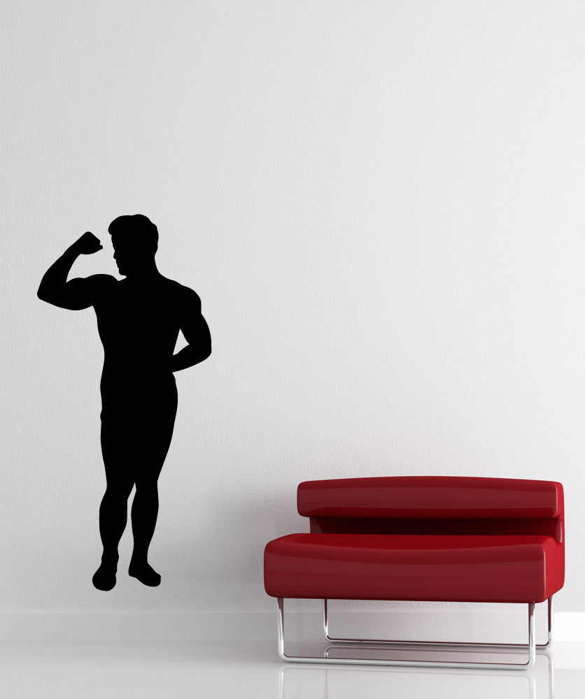 Vinyl Wall Decal Sticker Flexing Silhouette #OS_MB537