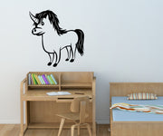 Vinyl Wall Decal Sticker Unicorn #OS_MB318