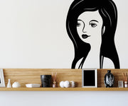 Vinyl Wall Decal Sticker Lady Portrait #OS_MB357