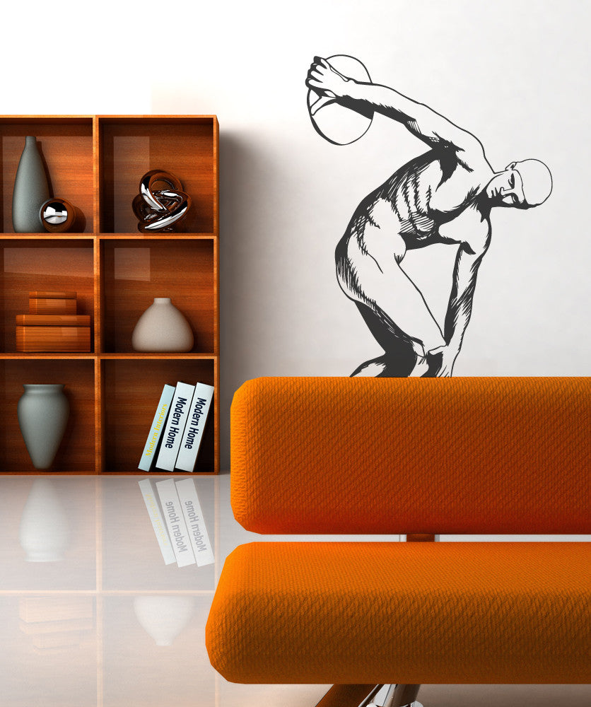 Vinyl Wall Decal Sticker Discus Thrower Greek Statue #OS_MB538