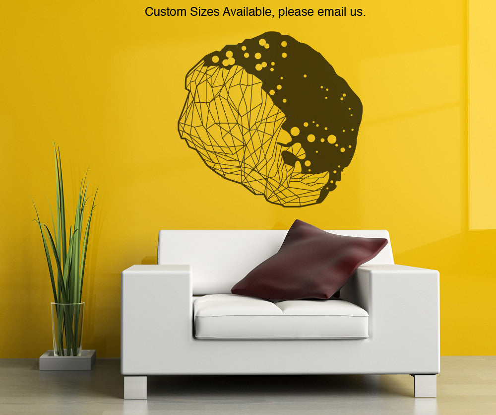 Vinyl Wall Decal Sticker Asteroid Geometrical Shape Item# OS_MB148