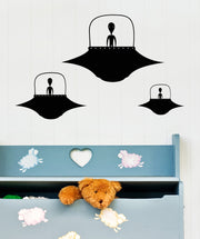 Vinyl Wall Decal Sticker Alien Ships #OS_MB319