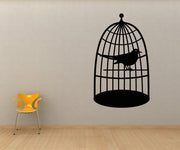 Vinyl Wall Decal Sticker Caged Bird #OS_MB249