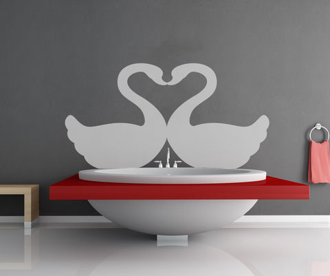 Vinyl Wall Decal Sticker Swan Love #OS_MB321