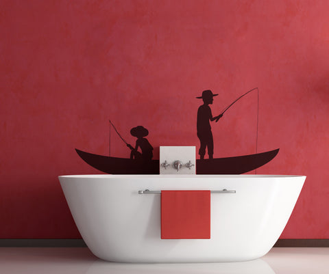 Vinyl Wall Decal Sticker Fishing #OS_MB322